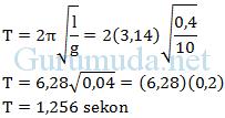 Contoh soal bandul sederhana (pendulum sederhana) - 2