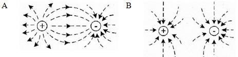 Garis gaya listrik (garis medan listrik) - Pembahasan soal dan jawaban UN fisika SMA MA 2013 - 1