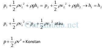 Prinsip dan Persamaan Bernoulli 8
